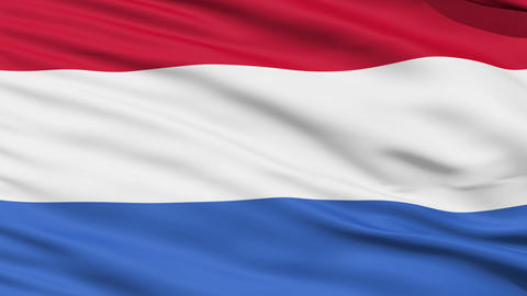 Waving national flag of Netherlands Stock Video Footage