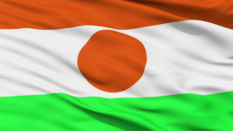 Waving national flag of Niger Animation