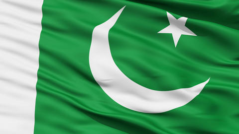 Waving national flag of Pakistan Stock Video Footage