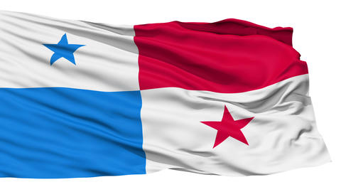 Waving national flag of Panama Stock Video Footage