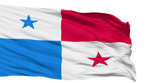 Waving National Flag Of Panama stock footage
