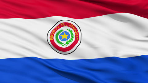 Waving national flag of Paraguay Stock Video Footage