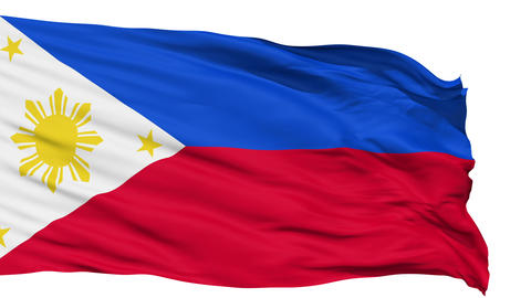 Waving national flag of Philippines Animation