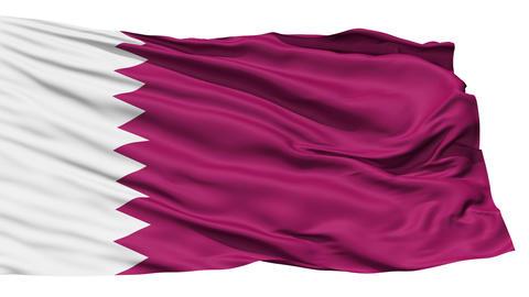 Waving national flag of Qatar Stock Video Footage