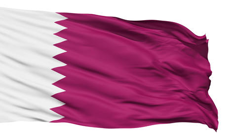 Waving national flag of Qatar Stock Video Footage