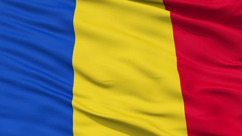 Waving national flag of Romania Animation