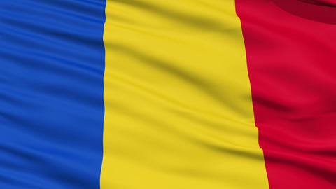 Waving national flag of Romania Stock Video Footage