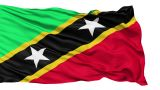 Waving National Flag Of Saint Kitts stock footage