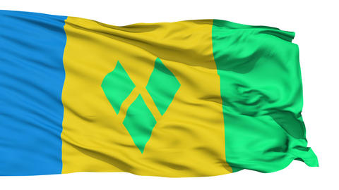 Waving national flag of Saint Vincent Grenadines Stock Video Footage