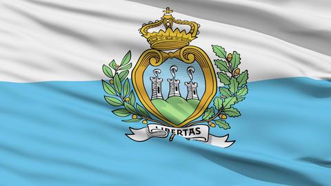 Waving national flag of Sanmarino Stock Video Footage