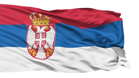 Waving national flag of Serbia Stock Video Footage