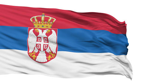 Waving national flag of Serbia Animation