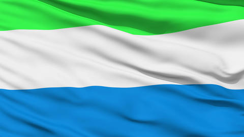 Waving national flag of Sierra Leone Stock Video Footage