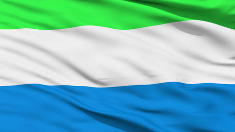 Waving national flag of Sierra Leone Animation