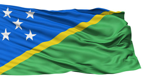 Waving national flag of Solomon Islands Stock Video Footage