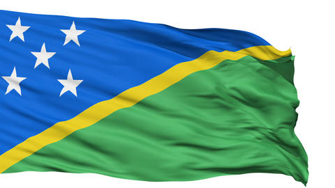 Waving national flag of Solomon Islands Animation