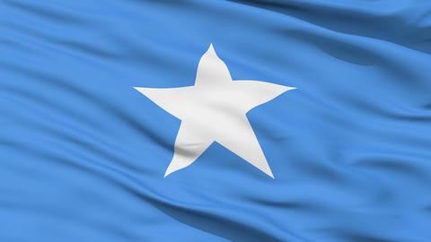 Waving national flag of Somalia Stock Video Footage
