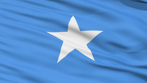 Waving national flag of Somalia Stock Video Footage