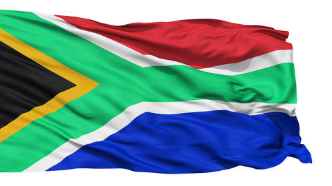 Waving national flag of South Africa Stock Video Footage