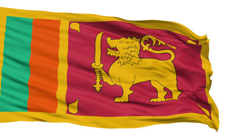Waving national flag of Sri Lanka Animation