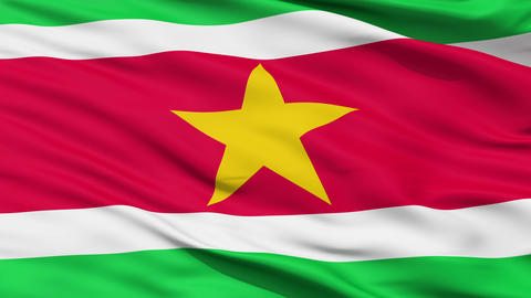 Waving national flag of Suriname Stock Video Footage