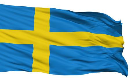 Waving national flag of Sweden Stock Video Footage