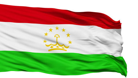 Waving national flag of Tajikistan Stock Video Footage