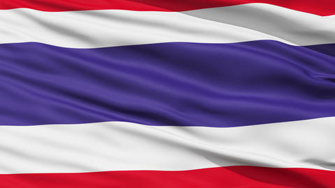Waving national flag of Thailand Stock Video Footage