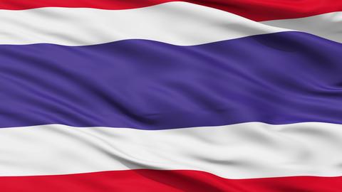 Waving national flag of Thailand Animation