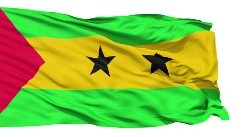 Waving national flag of Tome and Principe Stock Video Footage