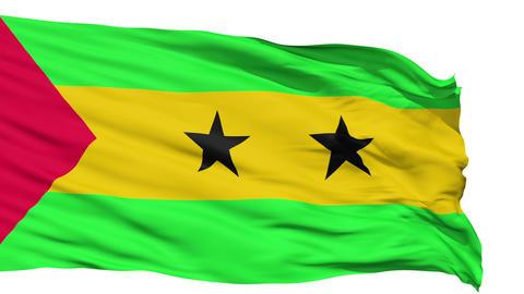Waving national flag of Tome and Principe Animation