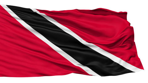 Waving national flag of Trinidad and Tobago Stock Video Footage