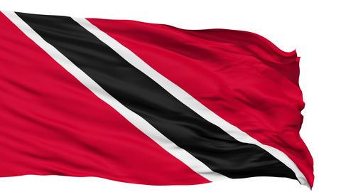 Waving national flag of Trinidad and Tobago Animation