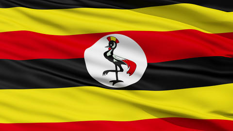 Waving national flag of Uganda Stock Video Footage