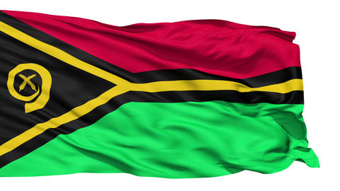Waving national flag of Vanuatu Stock Video Footage