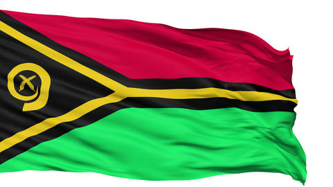 Waving national flag of Vanuatu Animation