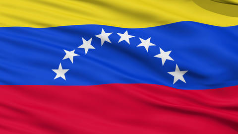 Waving national flag of Venezuela Stock Video Footage