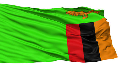 Waving national flag of Zambia Stock Video Footage