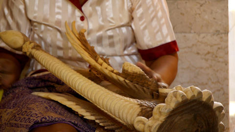 Indonesian crafts sequence Stock Video Footage