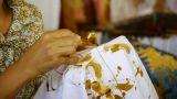 Making batik 5 Footage