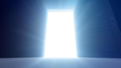 Door Opening SD M1 In HD Stock Video Footage