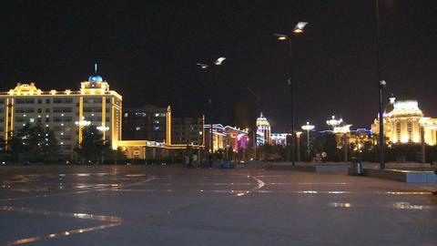 Heihe City Evening Promenade 04 Footage