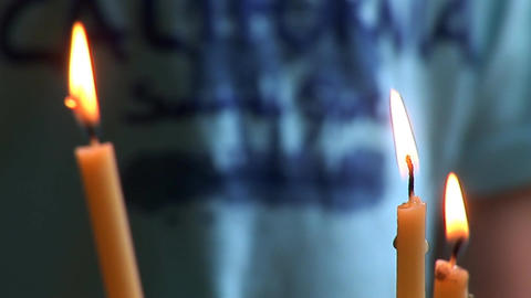 candle 3 Stock Video Footage
