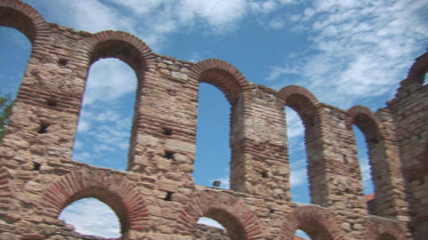 nessebar church 9 Stock Video Footage