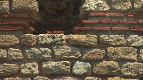 nessebar wall 3 Stock Video Footage