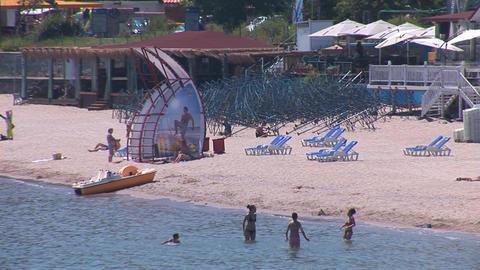 sea beach 1 Stock Video Footage