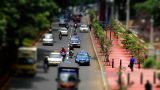 10703 indonesia city traffic tilt shift time lapse Footage