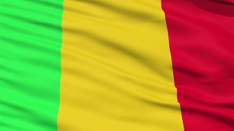 Waving national flag of Mali Stock Video Footage