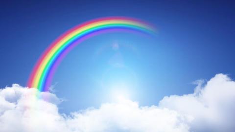 Door Opening Rainbow CD F2 In3 HD Stock Video Footage