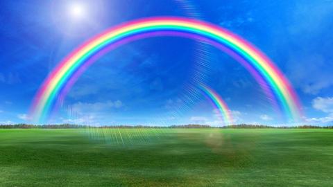 Door Opening Rainbow DD M1 In3 HD Stock Video Footage